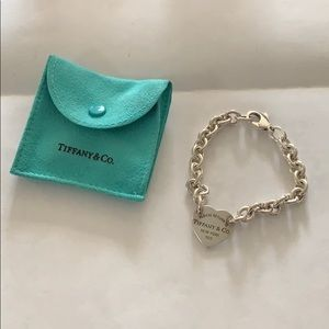 EUC Tiffany & Co. Heart Tag Bracelet
